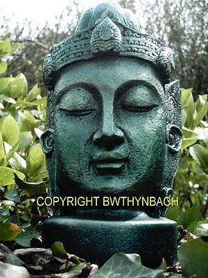 New Rubber Latex Mould Mold To Make Buddha Head Bust Garden Ornament 1