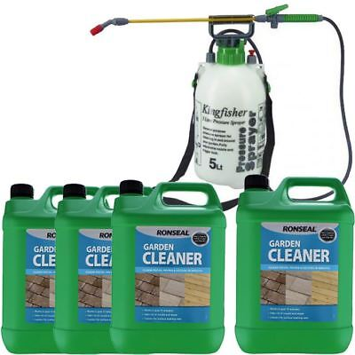 5 10 20L Ronseal Patio Deck Fence Mould Killer Path Driveway Cleaner / Sprayer