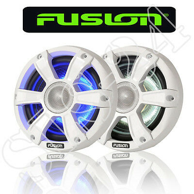 "FUSION MARINE Lautsprecher SG-FL77SPW 280W LED Beleuchtung 7,7"" 196mm Yacht Boot"