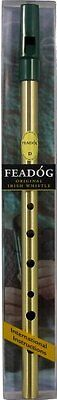 Irish Made Brass Feadog D Flageolet Tin Brass Penny Whistle GIFT PACK in D