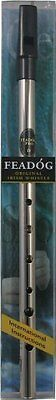 Irish Made Nickel Feadog PRO D Flageolet Tin Brass Penny Whistle GIFT PACK in D