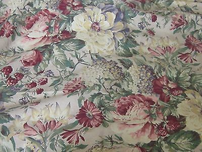 Roses hydrangea romantic upholstery weight fabric material sewing chic garden