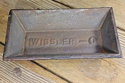Chicken Peep feed trough chick feeder Old 1800's vintage decorated WISSLER-0