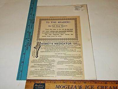 Rare Original VTG 1896 Ramey's Medicator Metropolitan Mag Advertising Art Print