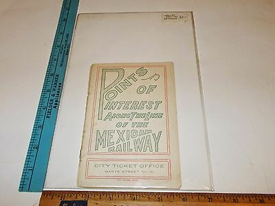 Rare Orig VTG Railroad Mexican Railway Points of  Interest Advertising Brochure