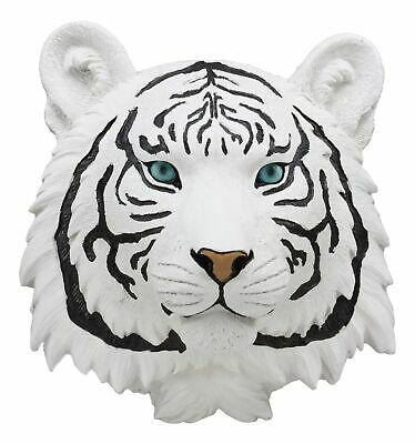 "Mini Siberian White Tiger Wall Decor 7.5""H Safari Alaskan White Tiger Wall Art"