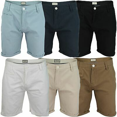 Mens Chino Shorts by Brave Soul 'Fern' Cotton Twill