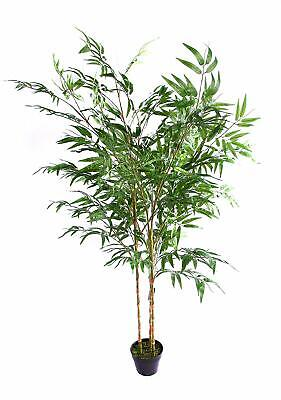 Best Artificial 180cm 6ft Green Bamboo Plant Tree Tropical Office Conservatory