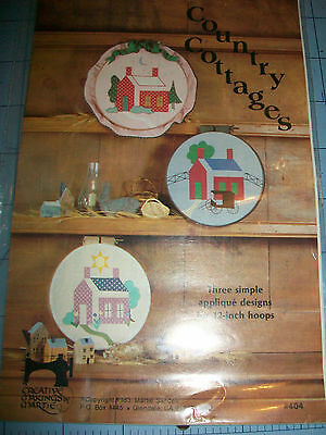 """Country Cottages Simple Applique Designs For 12"""" Hoops Pattern"""