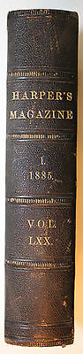 Original Dec 1884-May 1885 Bound Harpers New Monthly Magazine
