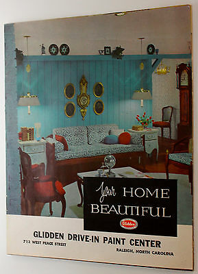 Original 1961 Glidden Spred Paint Your Home Beautiful Booklet