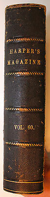 Original Dec 1879-May 1880 Bound Harpers New Monthly Magazine