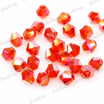 120pcs Faceted Crystal Bicone Rondelle Beads Wholesale Jewellery Craft Bead 4mm