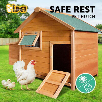 Chicken Coop Rabbit Hutch Hen House Wooden Chook Guinea Pig Ferret Cage 300