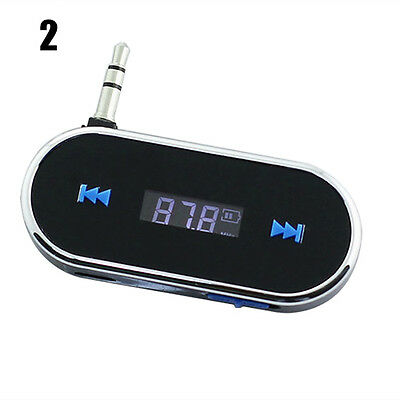 Black Pleasing Wireless 3.5mm Car LCD FM Transmitter For Samsung iPhone 6