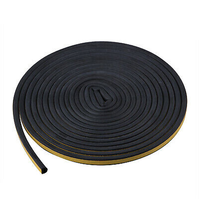 TRIXES 5M Black Window Seal Draft Excluding Self Adhesive Sealing Strip D Shaped