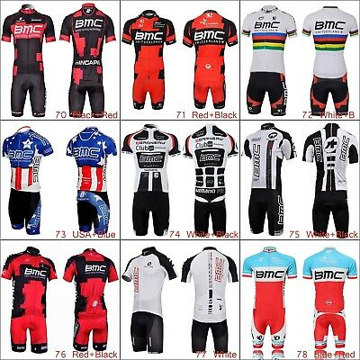 cd7eb15f1 2019 Men Cycling Jersey Set Outfits Bike Bicycle Team Clothing Shirt Short  Pants
