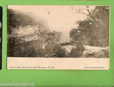 #c.    Postcard -  Prince's Rock, Wentworth, Blue Mountains, Nsw