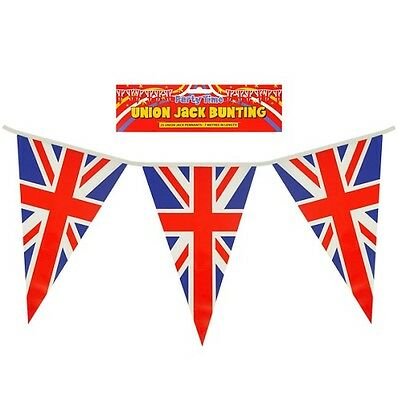 British Union Jack Uk Triangle Bunting Flags Great Britain GB Party Sports 200ft