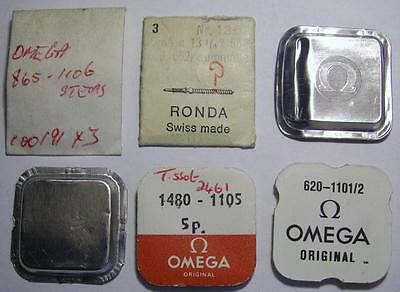 Lot of OMEGA Watch Parts – stems and other for Spares – some are unopened packs,