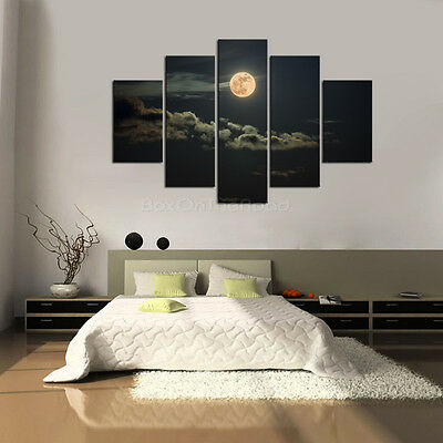 Large Moon Night Canvas Print Wall Art Painting Picture Unframed 3 Size