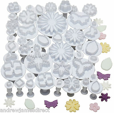 Andrew James 45pc Plunger Cutters Icing Fondant Sugarcraft Cake Decorating Tools