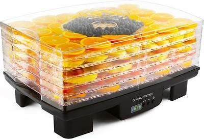 Andrew James 6 Tray Digital Food Dehydrator Fruit Preserver Beef Jerky Dryer