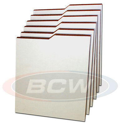 6 New Comic Dividers with Index Tab for Short or Long Comic Storage Boxes - BCW