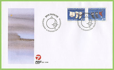 Greenland 1998 Christmas set on First Day Cover