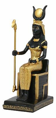 Egyptian Goddess Of Magic Motherhood And Life Isis Seated On Throne Statue Decor