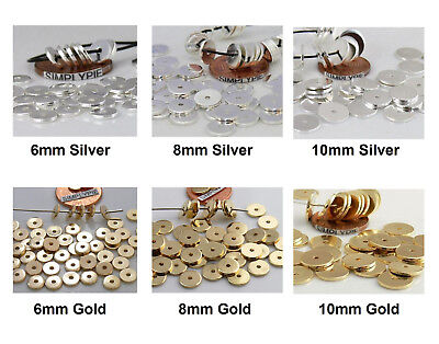 50 Flat Disc Metal Spacer Beads Ur PICK
