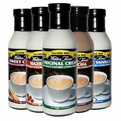 Walden Farms Coffee Creamer 355ml - Low Card Low Fat - All Flavours FREE Delive.