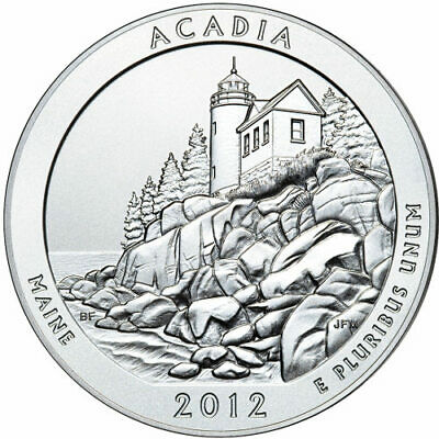 2012 5 oz America The Beautiful ATB Acadia Silver Coin .999 Fine
