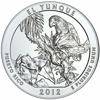 2012 5 oz America The Beautiful ATB El Yunque Silver Coin .999 Fine