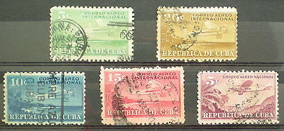 U/b027 - Aviation: Fine Selection Of Stamps - Caribbean - Airmail Set - Used