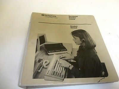 Vintage Dictaphone Secretarial Practice Course Student Manual  Rare Binder