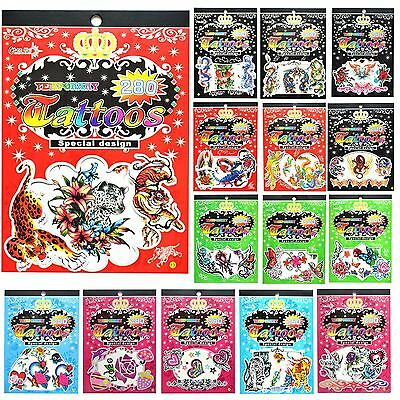 Children Temporary Tattoos Transfer Birthday Party Favours Gift Bag Filler