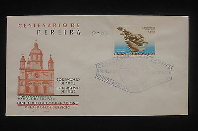 U/d384 - Colombia: 1963 - Fine Cover - Fdc - Bolivar Monument - From Bogota