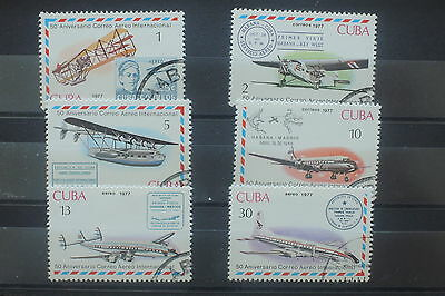 U/d552 - Aviation: 1977 - Caribbean - Fine Stamps - Airplanes - Airmail - Used