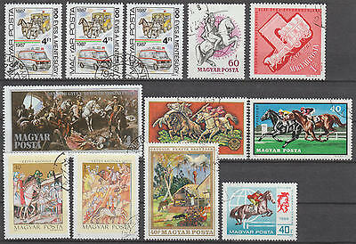 U/e057 - Horses: Hungary - Fine Stamps - Coaches - Paintings - Sports - Used