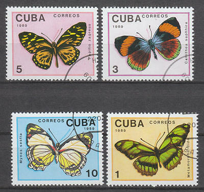 U/e092 - Butterflies: 1989 - Caribbean - Fine Stamps - Insects - Colours - Used