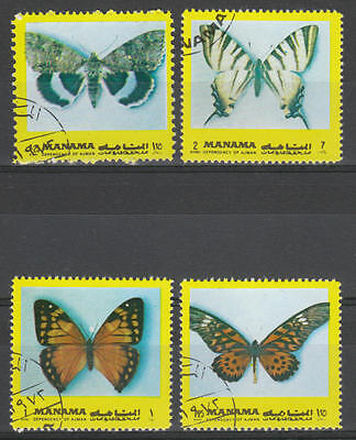 U/e093 - Butterflies: Manama - Fine Selection Of Stamps - Ajman - Insects - Used