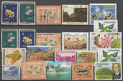 U/e190 - Flowers: Caribbean - Colombia - Fine Stamps - Plants - Nature - Used