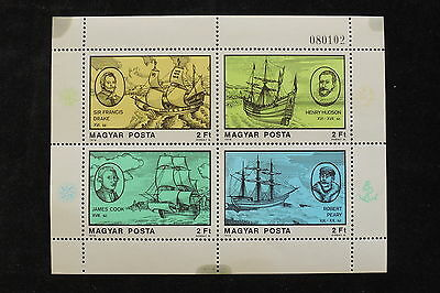 U/e220 - Ships: 1978 - Hungary - Fine Sheet- Sails - Boats - Navigators - Mnh **