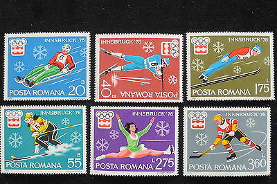 U/e916 - Olympic Games: 1976 -Romania -Fine Stamps- Innsbuck Winter Games-Mnh **