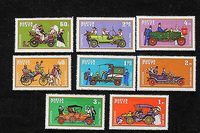 U/f255 - Cars: 1970 - Hungary - Fine Stamps - Coaches - People - Mnh **