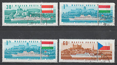 U/f772 - Ships: Hungary - Fine Stamps - Boats - Flags - Landscapes - Used