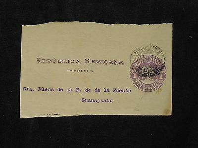 U/g122 - Mexico: Fine Fragment Of Cover - Coats Of Arms - To Guanajuato - Used