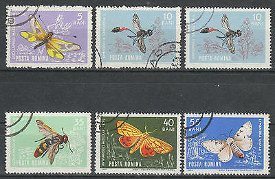 U/g734 - Insects: Romania - Fine Stamps - Butterflies - Bees - Nature - Used