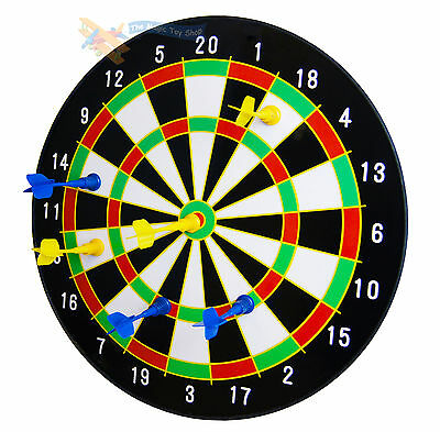 """NEW 16"""" Magnetic Dart Board Dartboard 6 Darts Party Game Play Set"""